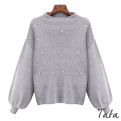 燈籠袖釘珠針織上衣 TATA