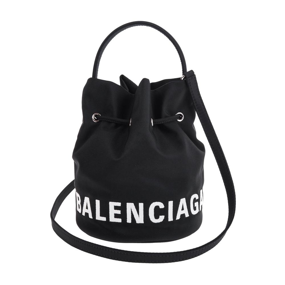 Balenciaga 新款SAC SEAU WHEEL XS 尼龍水筒手提/肩背包 (黑色)