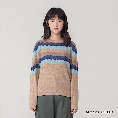 MOSS波浪造型針織衫
