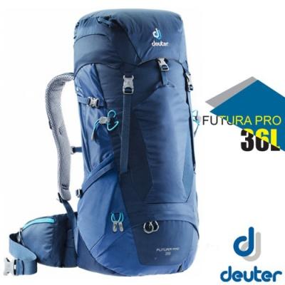 Deuter Futura PRO 36L 專業輕量網架透氣背包_深藍/藍