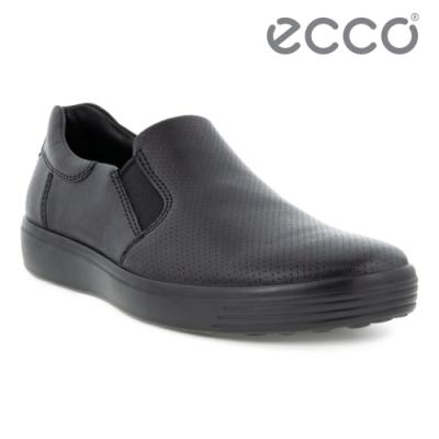 ECCO SOFT 7 M 質感輕便休閒鞋 男鞋 黑色