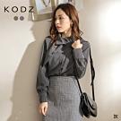 東京著衣-KODZ 獨特品味拋袖領巾造型襯衫上衣(共二色)