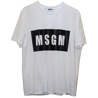 MSGM 經典品牌色字母T恤(白色)