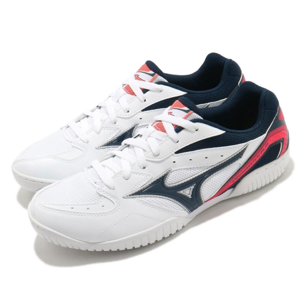 Mizuno 桌球鞋 Crossmatch Plio RX4 男鞋 美津濃 基本款 運動鞋 緩震 透氣 白 藍 81GA183014