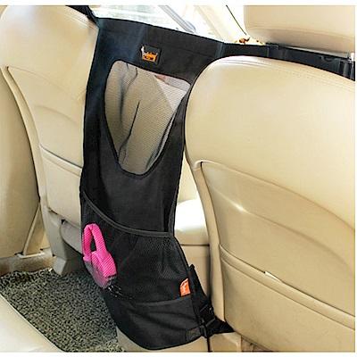 威力鯨車神 汽車椅背多層次透氣收納袋/汽車用寵物圍欄/前後座圍欄(黑色)