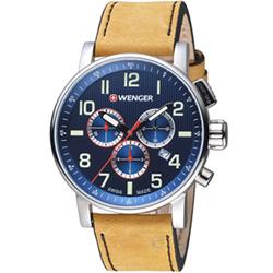 WENGER Attitude 鋼鐵英雄計時腕錶(01.0343.101)42mm