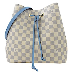 LV N40153 NEONOE 白棋盤格紋水桶包(牛仔藍)