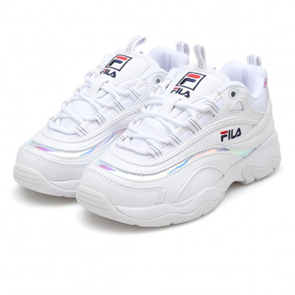 FILA RAY復古老爹鞋(女)-白
