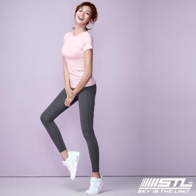 STL yoga Light Quickdry legging 韓國『超高腰』運動機能 壓力訓練緊身褲 9分 氣質霧霾灰  瑜珈/重訓/戶外/機能/登山/路跑
