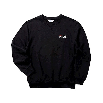 FILA 男長袖圓領T恤-黑色 1TET-5500-BK