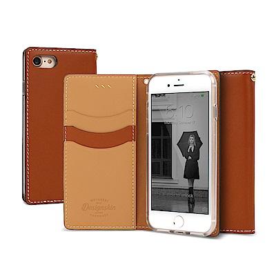 DesignSkin iPhone 8/7 義式精品真皮手機側掀皮套