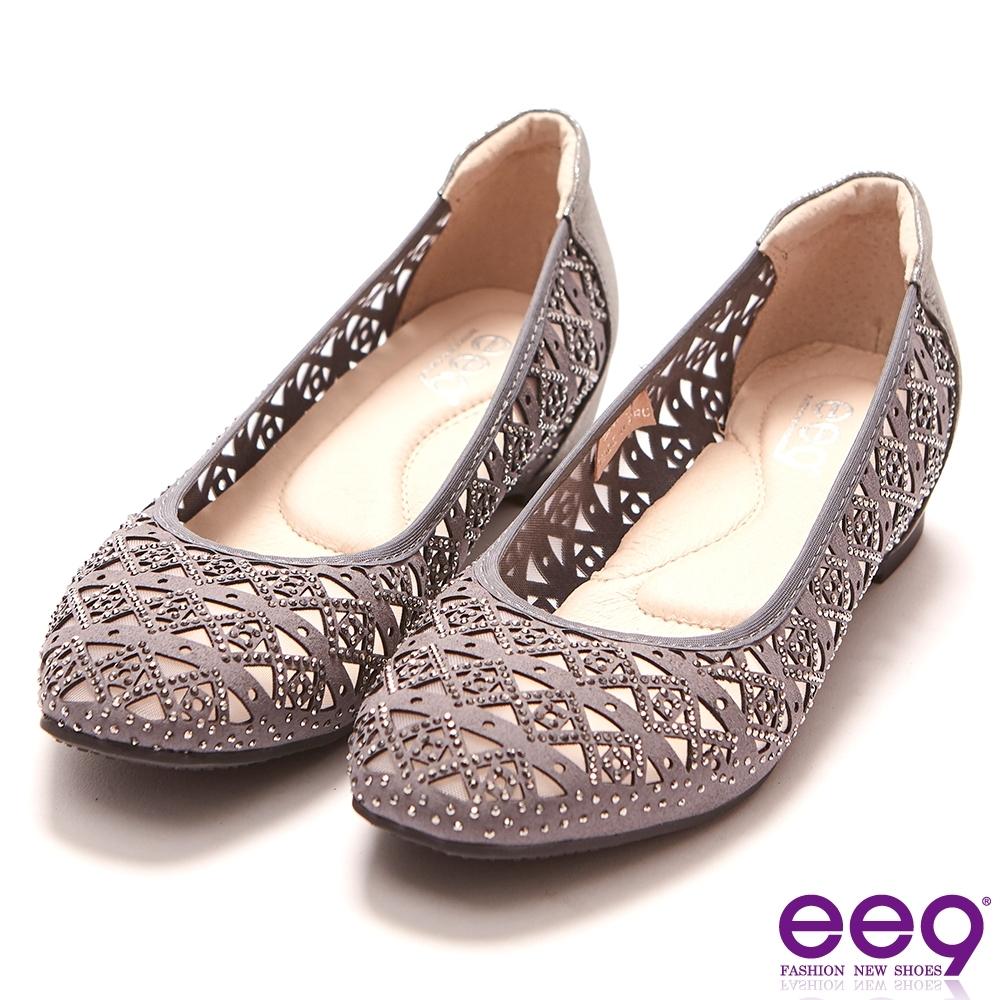 ee9 鑲嵌水鑽耀眼奪目內增高娃娃鞋  灰色-613208  16