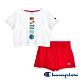 Champion EU童短袖套裝 白x紅 product thumbnail 1