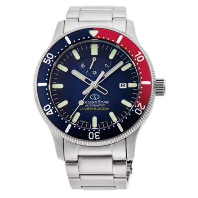 Orient Star 東方之星 潛水錶 機械錶(RE-AU0306L)藍/43.6mm