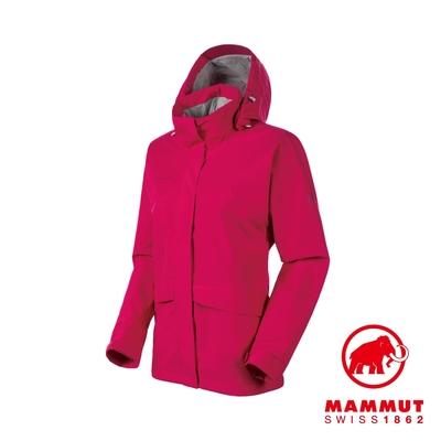 【Mammut 長毛象】Heritage HS Hooded Jacket 復古款GTX連帽外套 夕陽紅 女款 #1010-27730