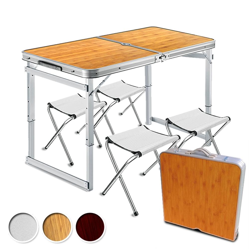 折疊鋁合金露營桌椅組 ( 一桌4椅 ) 現貨【VENCEDOR】
