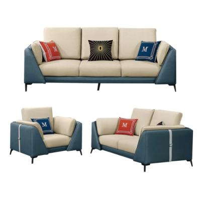文創集 西班牙 現代科技布料獨立筒沙發椅組合(1+2+3人座組合)-220x90x91cm免組