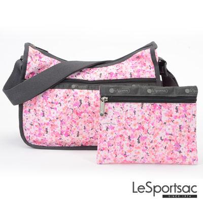 LeSportsac - Standard側背水餃包-附化妝包 (春櫻/粉)