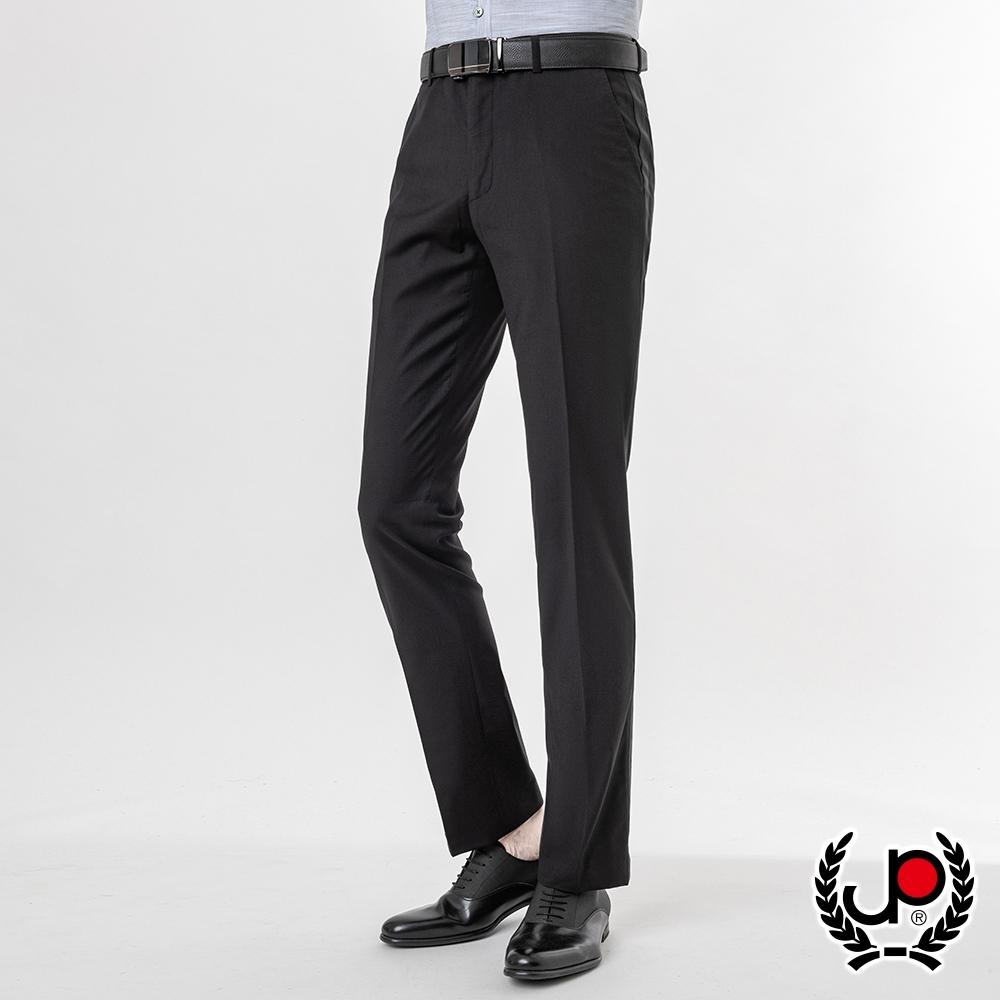 極品西服 紳士窄版彈性西裝褲_黑