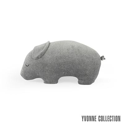 YVONNE COLLECTION豬豬造型抱枕-暗灰