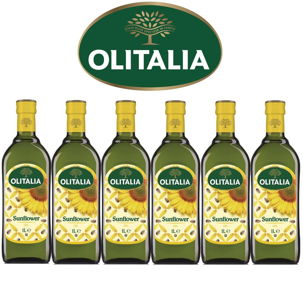 Olitalia奧利塔葵花油禮盒組(1000mlx6瓶)(春節禮盒)