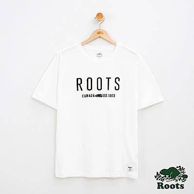 男裝Roots 休閒短袖T恤-白