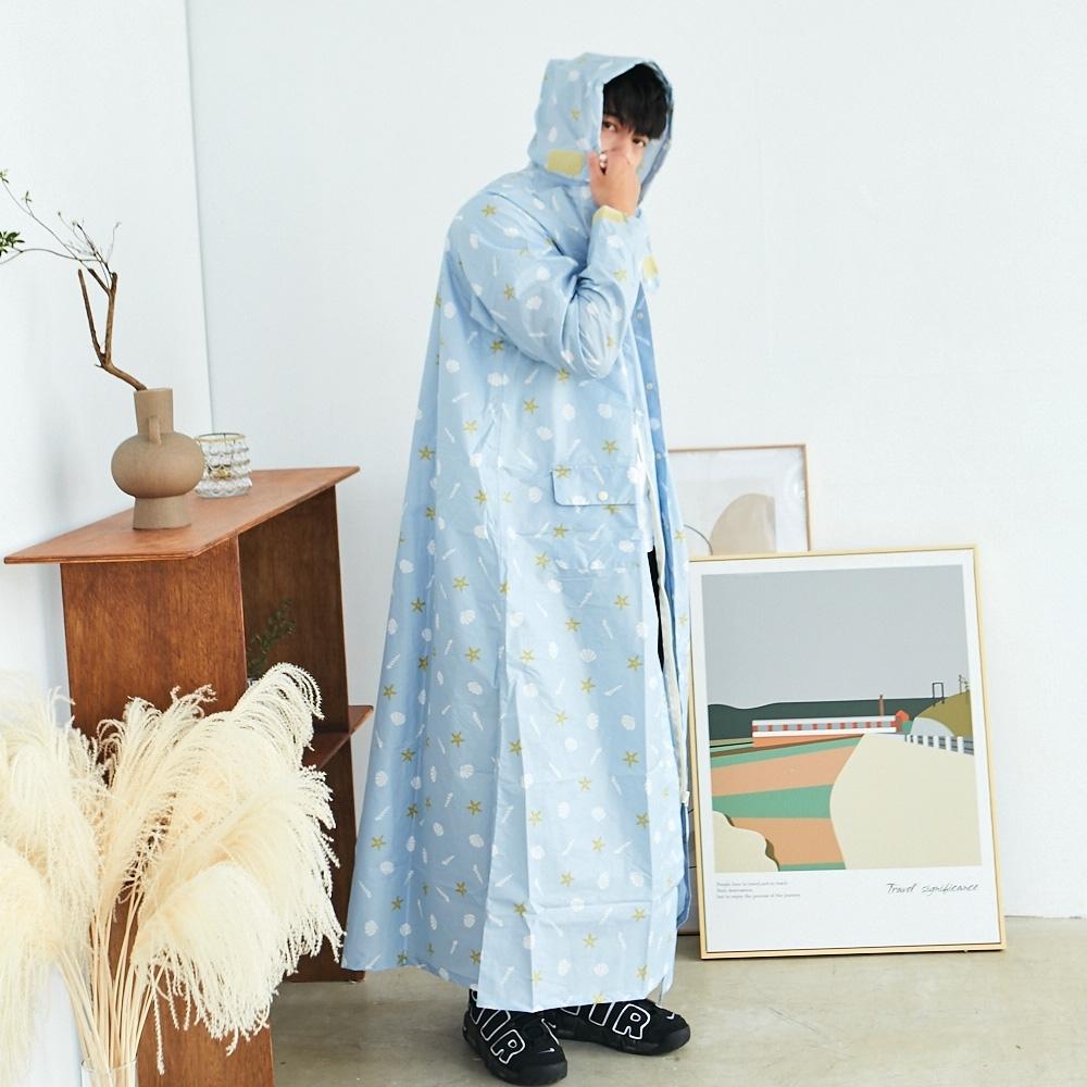 RAINSTORY海洋物語連身雨衣(XL號)