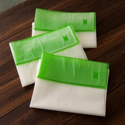 真空靜電式壓縮袋 中型輕鬆捲收納組(M-3入)索樂生活.真空收納袋 靜電壓縮袋 衣物收納