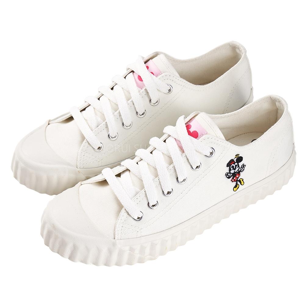 迪士尼親子鞋 米妮 造型帆布休閒鞋-白(柏睿鞋業)