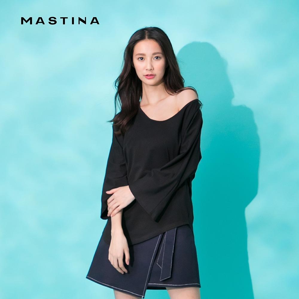 【MASTINA】簡約素面不規則衣襬-上衣(三色)