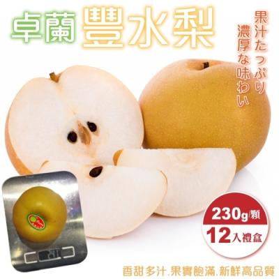 【天天果園】嚴選卓蘭豐水梨禮盒12入(每顆約230g)