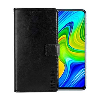 IN7 瘋馬紋 紅米Note9 (6.53吋) 錢包式 磁扣側掀PU皮套 吊飾孔 手機皮套保護殼