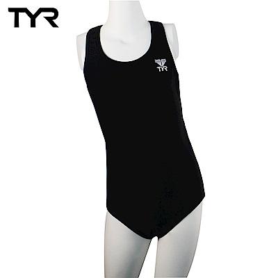 美國TYR 兒童連身黑色泳裝 Solid Maxback JUNIOR