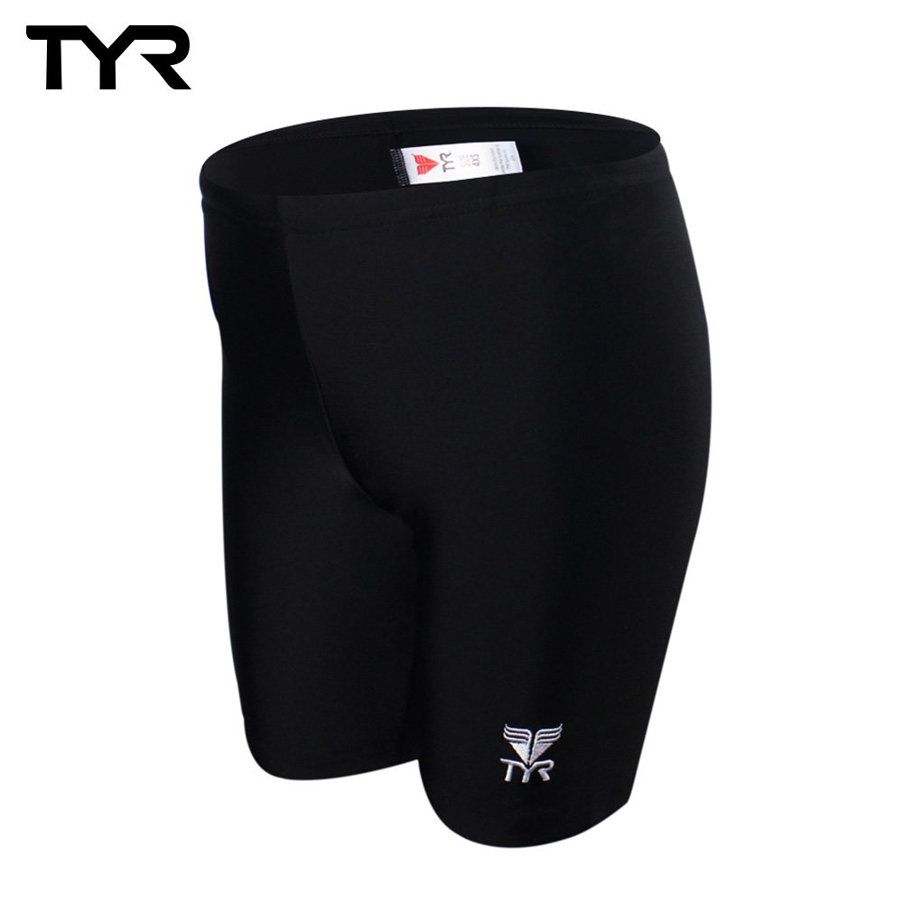 美國TYR 兒童及膝黑色訓練款泳褲 Solid Jammer JUNIOR