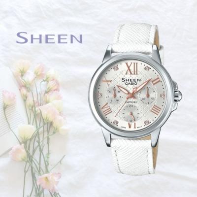 CASIO卡西歐 奢華皮帶腕錶(SHE-3511L-7A)