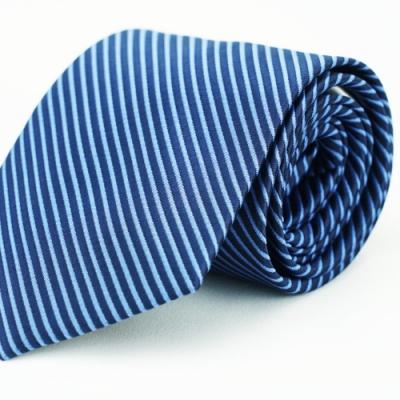 Alpaca 深淺藍條紋領帶