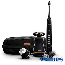 (無卡分期-12期)飛利浦Union紳士淨化組(電鬍刀+音波牙刷) S8880