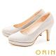 ORIN 閃耀金蔥金屬花嫁 女 高跟鞋 銀色 product thumbnail 1