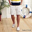 Nautica經典圖騰短褲-白色