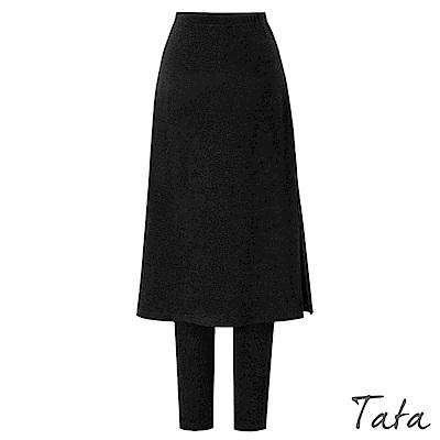 假兩件側開叉刷絨褲裙 共二色 TATA