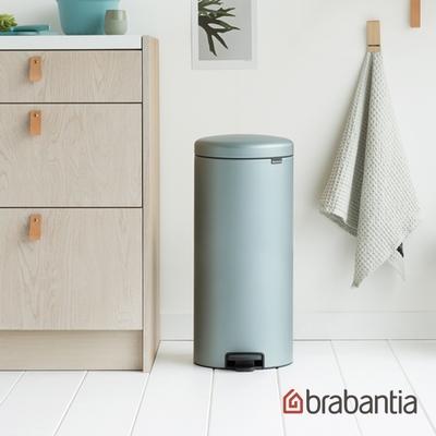 【Brabantia】NEWICON環保垃圾桶-30L金屬藍(新品上市)