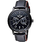MINI Swiss Watches英式經典腕錶(MINI-160644)-黑殼x紅邊