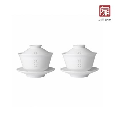 JIA Inc. 品家家品 紛雪品茗系列 蓋碗150ml-2入組
