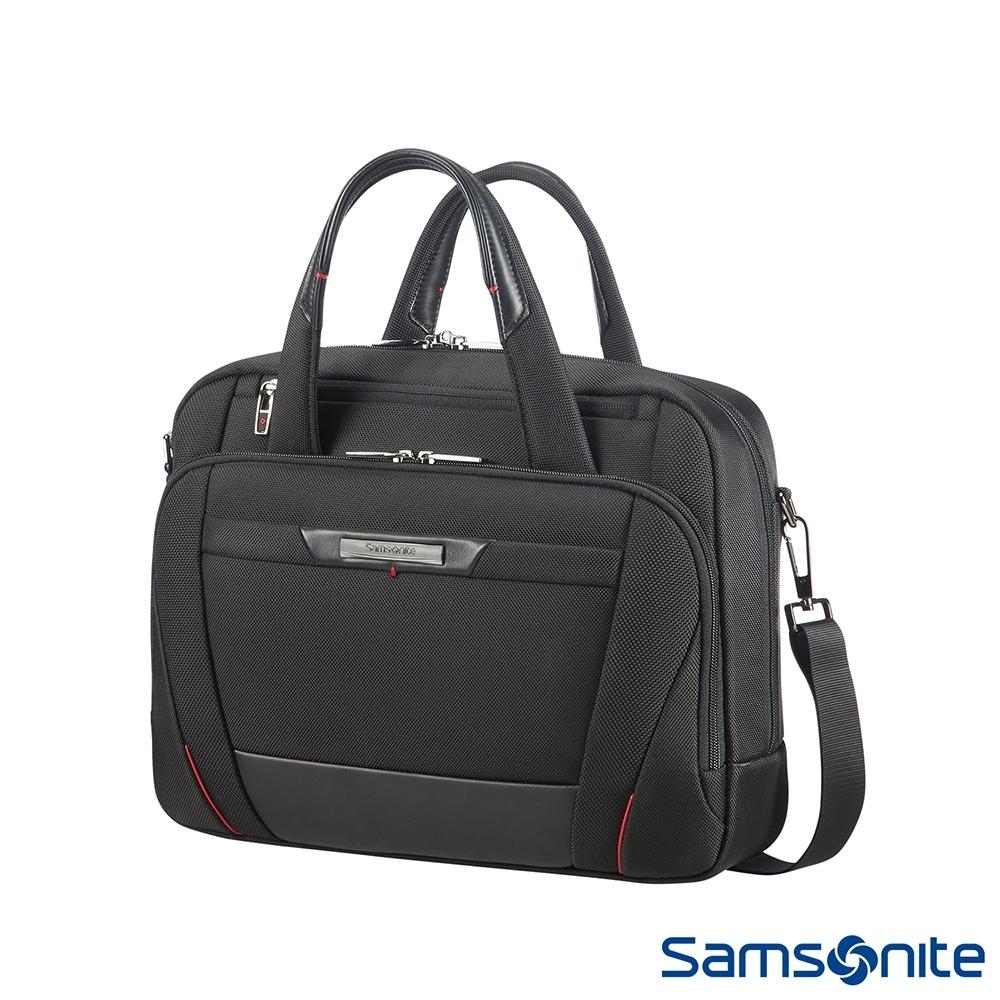 (6/1 10:00 ~6/21 10:00 送超贈點700) Samsonite新秀麗 Pro-DLX5商務多夾層筆電公事包(黑)