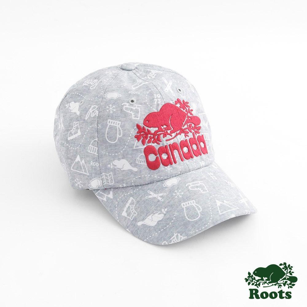 配件Roots- 周年紀念滿版印花棒球帽-灰
