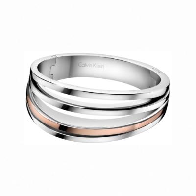CALVIN KLEIN Breathe 系列玫瑰金雙色經典手環-S