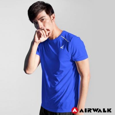 【AIRWALK】男款吸排短T-藍色