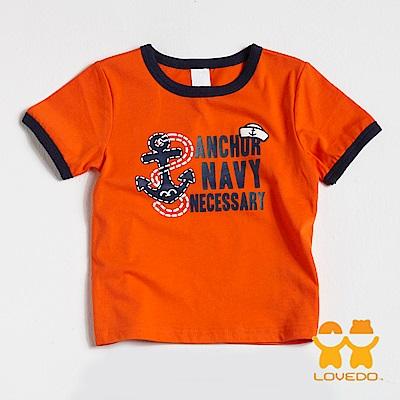 【LOVEDO-艾唯多童裝】起錨出航 短袖T恤 (橘)