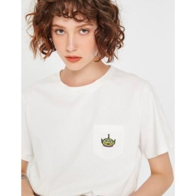 CACO-三眼怪口袋短T-情侶款-女【TDI085】