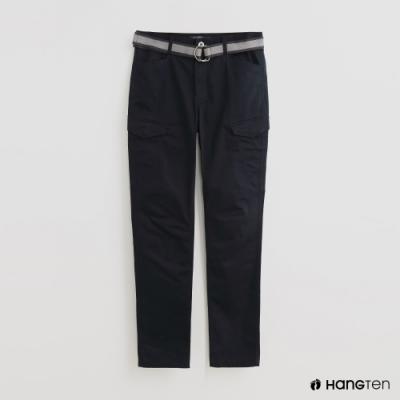 Hang Ten - 男裝 - 附腰帶時尚風造型長褲 - 藍